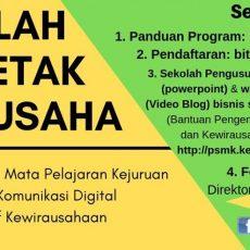 Segera Daftar, Sekolah Pencetak Wirausaha