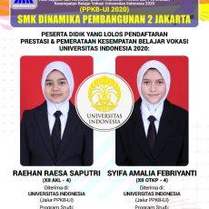 Selamat! 33 Siswa SMK Dinamika Pembangunan 2 Jakarta Berhasil Lulus SNMPTN 2020